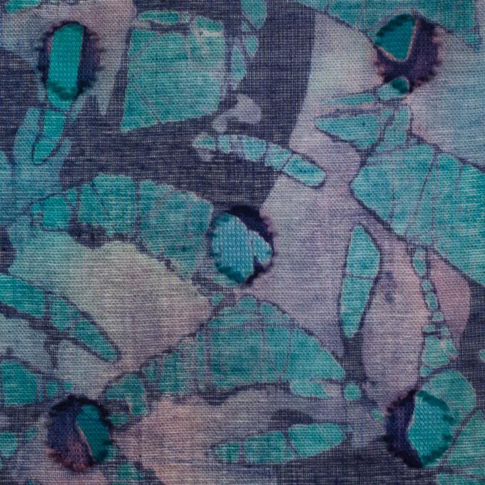 コットン×ペイント(エメラルドグリーン)×ボイルカットジャガード_全3色 イメージ1