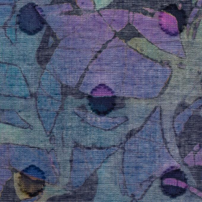 コットン×ペイント(バイオレット)×ボイルカットジャガード_全3色 イメージ1
