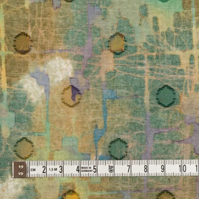 コットン×ペイント(オーカー)×ボイルカットジャガード イメージ4