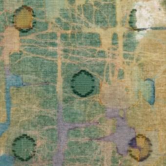 コットン×ペイント(オーカー)×ボイルカットジャガード サムネイル1