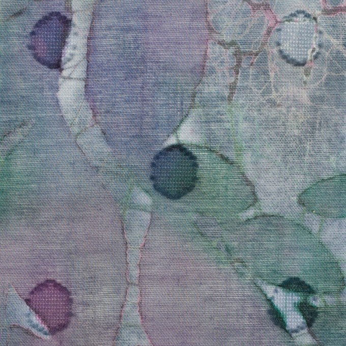 コットン×ペイント(グレイッシュパープル)×ボイルカットジャガード_全2色 イメージ1