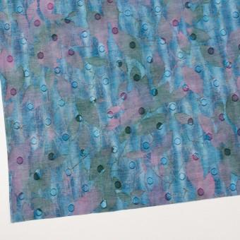 コットン×ペイント(エメラルドブルー)×ボイルカットジャガード_全2色 サムネイル2