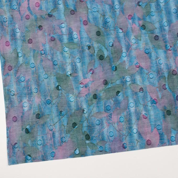 コットン×ペイント(エメラルドブルー)×ボイルカットジャガード_全2色 イメージ2