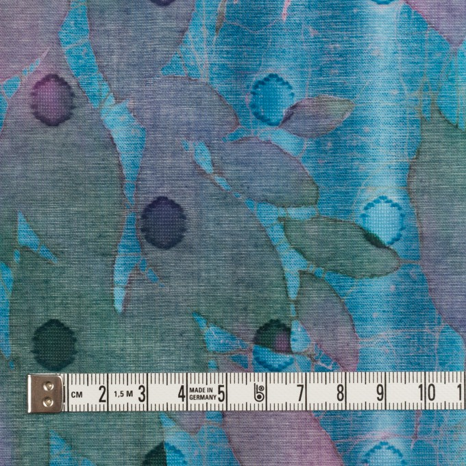 コットン×ペイント(エメラルドブルー)×ボイルカットジャガード_全2色 イメージ4