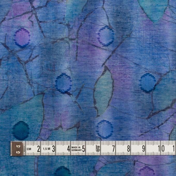 コットン×ペイント(バイオレット)×ボイルカットジャガード イメージ4