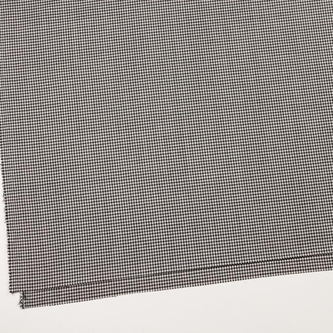 ウール&ポリエステル×チェック(アイボリー&ブラック)×千鳥格子 イメージ2