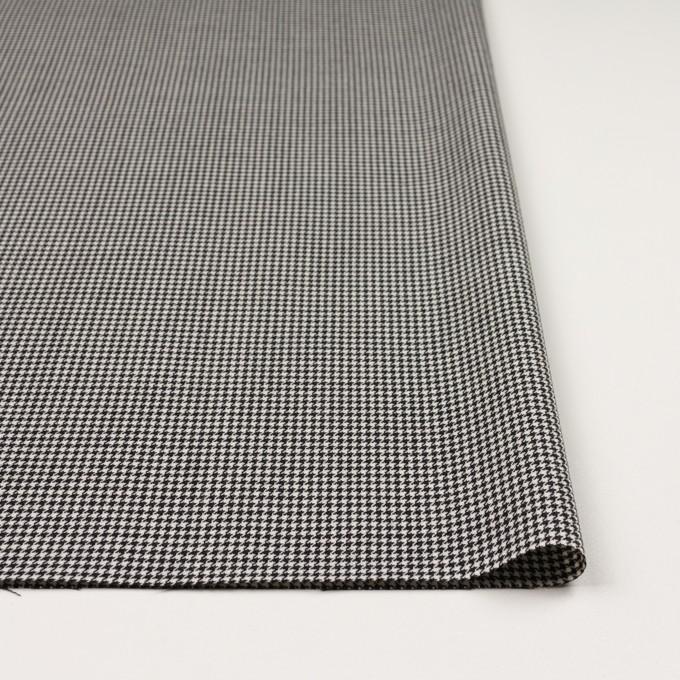 ウール&ポリエステル×チェック(アイボリー&ブラック)×千鳥格子 イメージ3
