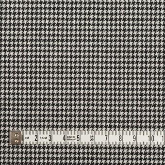 ウール&ポリエステル×チェック(アイボリー&ブラック)×千鳥格子 サムネイル4