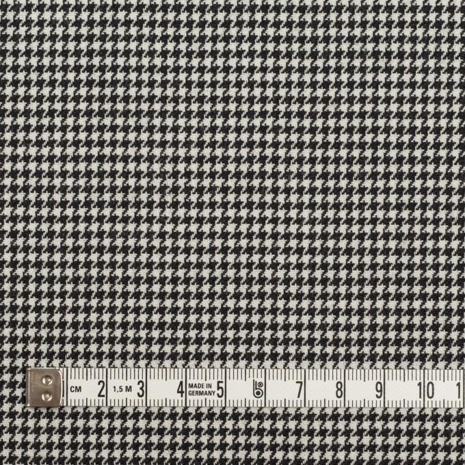 ウール&ポリエステル×チェック(アイボリー&ブラック)×千鳥格子 イメージ4