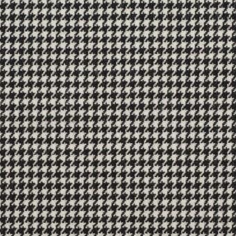 ウール&ポリエステル×チェック(アイボリー&ブラック)×千鳥格子 サムネイル1