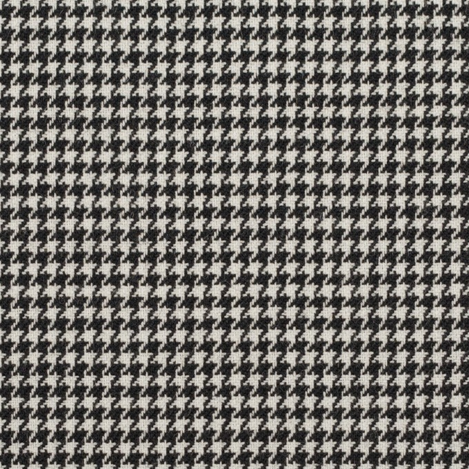 ウール&ポリエステル×チェック(アイボリー&ブラック)×千鳥格子 イメージ1