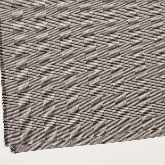 コットン&ポリウレタン×チェック(エクリュ&ブラック)×千鳥格子ストレッチ イメージ2