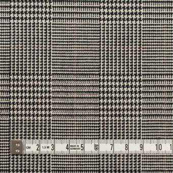 コットン&ポリウレタン×チェック(エクリュ&ブラック)×千鳥格子ストレッチ サムネイル4