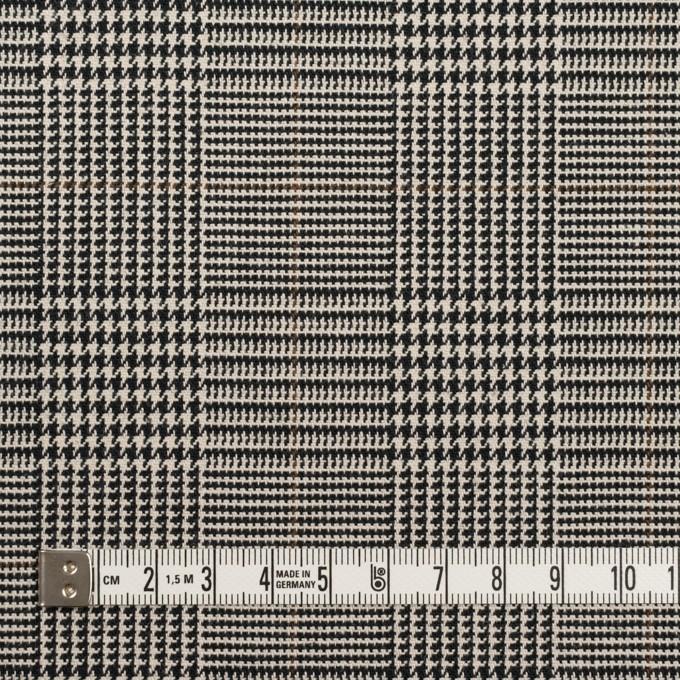 コットン&ポリウレタン×チェック(エクリュ&ブラック)×千鳥格子ストレッチ イメージ4