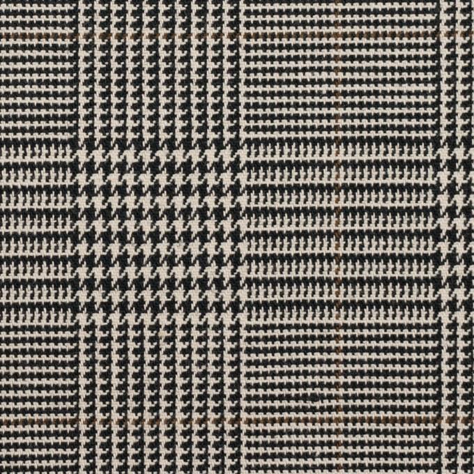 コットン&ポリウレタン×チェック(エクリュ&ブラック)×千鳥格子ストレッチ イメージ1