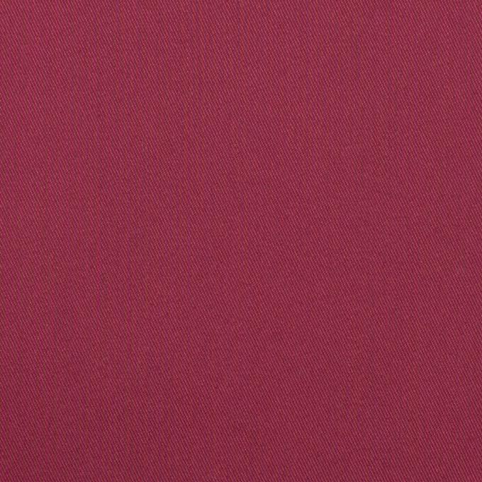 コットン&ポリエステル混×無地(オールドラズベリー)×サージストレッチ_全2色 イメージ1