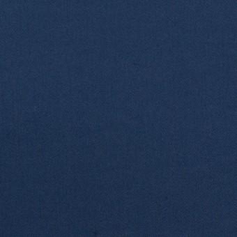 コットン&ポリエステル混×無地(プルシアンブルー)×サージストレッチ_全2色