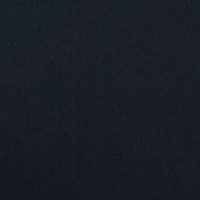 コットン&ポリウレタン×無地(ネイビー)×サージストレッチ イメージ1