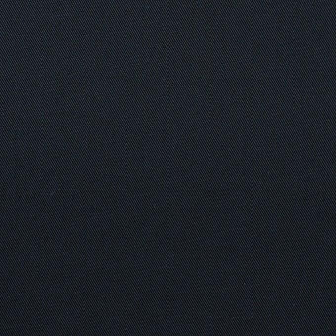 コットン&ポリウレタン×無地(ダークネイビー)×サージストレッチ イメージ1