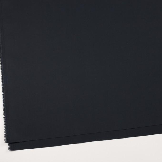 コットン&リヨセル×無地(ダークネイビー)×二重織ストレッチ イメージ2