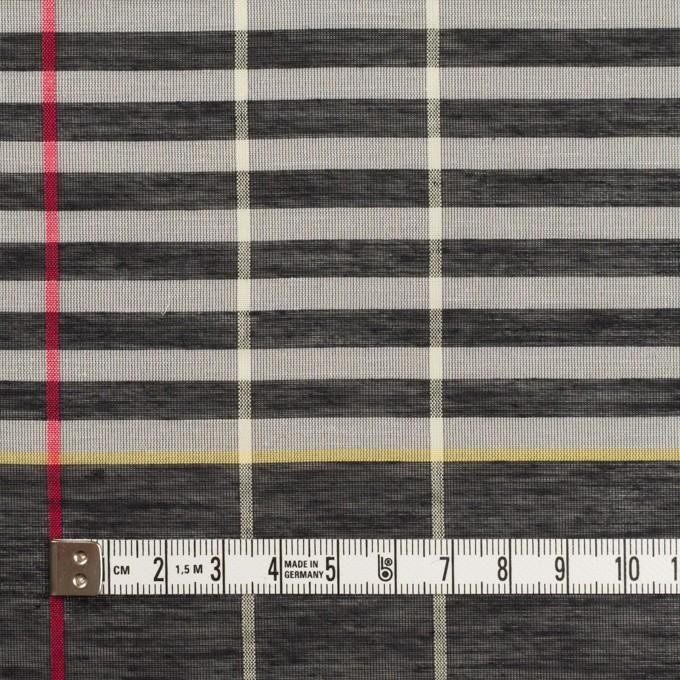 コットン&ポリエステル混×チェック(グレー&カーキグリーン)×ボイル_パネル イメージ4