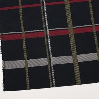 ポリエステル&コットン×チェック(レッド)×ポプリンジャガード_全3色 サムネイル2