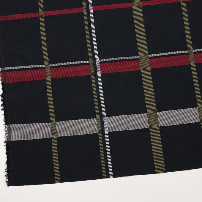 ポリエステル&コットン×チェック(レッド)×ポプリンジャガード_全3色 イメージ2