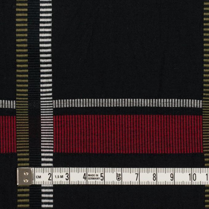 ポリエステル&コットン×チェック(レッド)×ポプリンジャガード_全3色 イメージ4