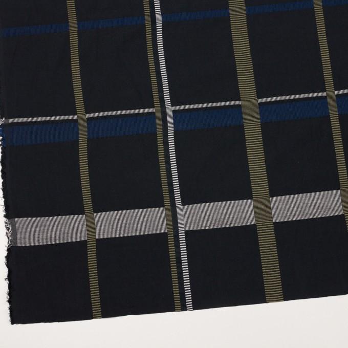 ポリエステル&コットン×チェック(ブルー)×ポプリンジャガード_全3色 イメージ2