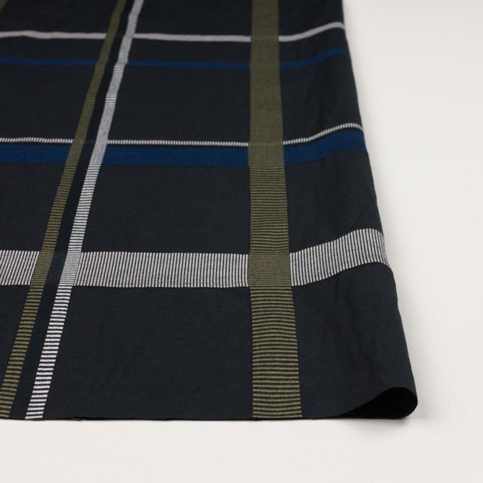 ポリエステル&コットン×チェック(ブルー)×ポプリンジャガード_全3色 イメージ3
