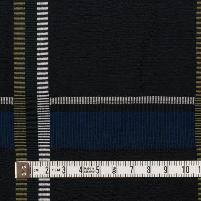 ポリエステル&コットン×チェック(ブルー)×ポプリンジャガード_全3色 イメージ4