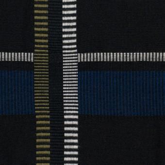 ポリエステル&コットン×チェック(ブルー)×ポプリンジャガード_全3色