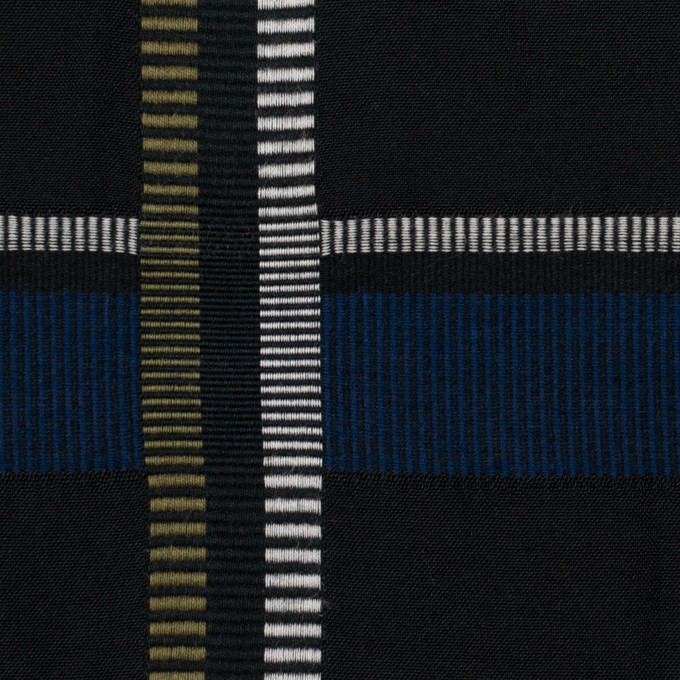 ポリエステル&コットン×チェック(ブルー)×ポプリンジャガード_全3色 イメージ1