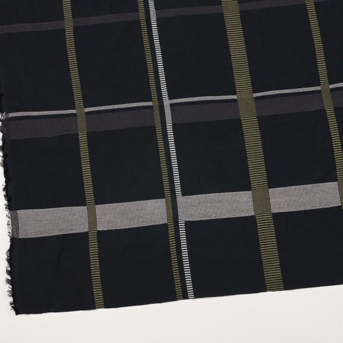 ポリエステル&コットン×チェック(ダブグレー)×ポプリンジャガード_全3色 イメージ2