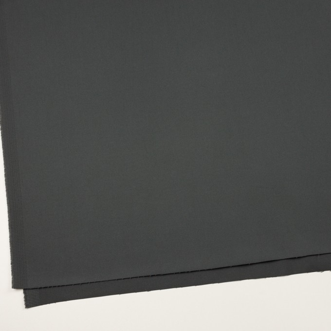 コットン&ポリウレタン×無地(チャコールグレー)×サテンストレッチ イメージ2
