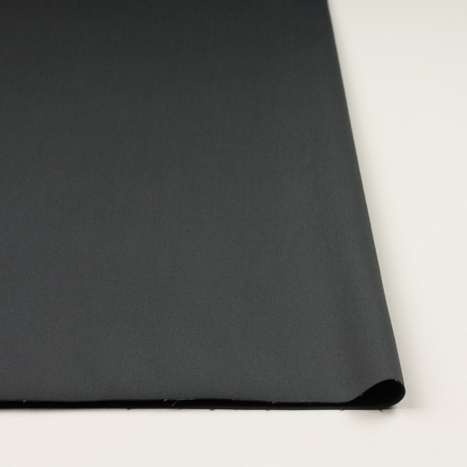 コットン&ポリウレタン×無地(チャコールグレー)×サテンストレッチ イメージ3