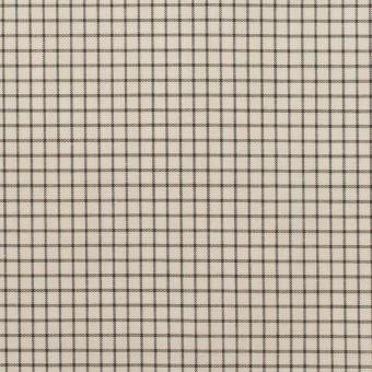 コットン&ポリノジック×チェック(エクリュ&チャコール)×ブロード サムネイル1