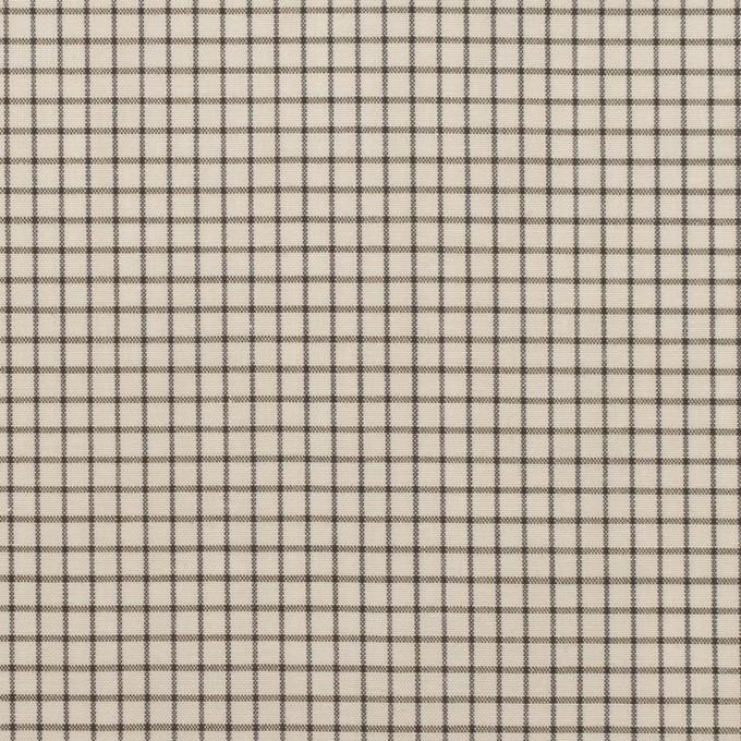 コットン&ポリノジック×チェック(エクリュ&チャコール)×ブロード イメージ1