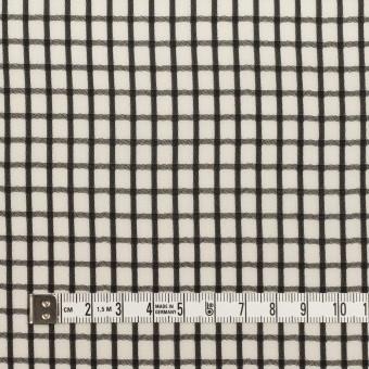 ポリエステル×チェック(エクリュ&ブラック)×ジョーゼット・ジャガード サムネイル4
