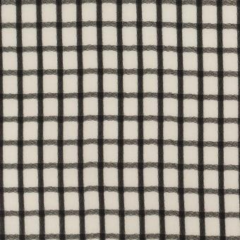 ポリエステル×チェック(エクリュ&ブラック)×ジョーゼット・ジャガード サムネイル1