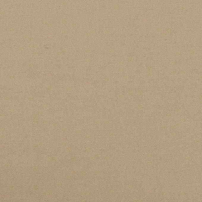 コットン×無地(カーキベージュ)×サテンワッシャー_全2色 イメージ1