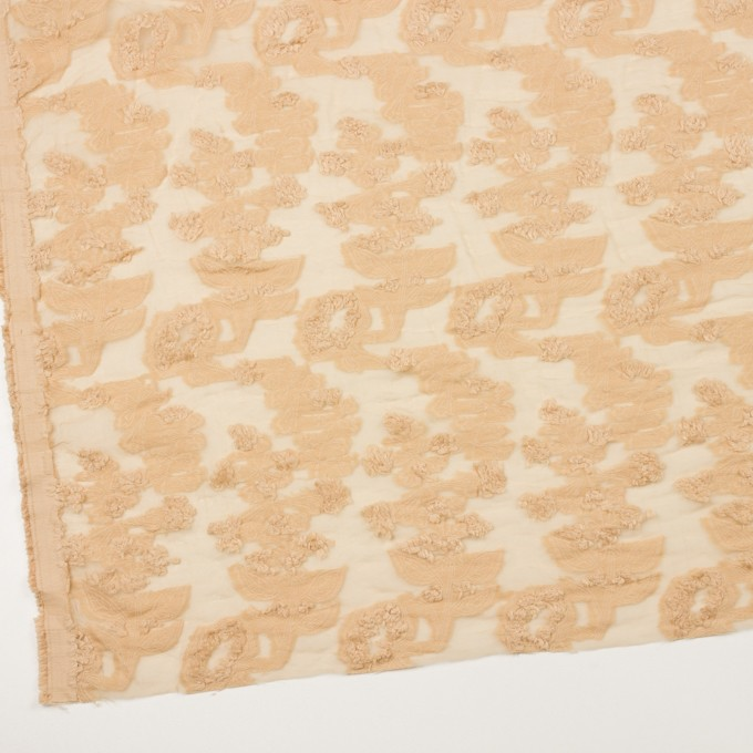 コットン&ナイロン×フラワー(カスタード)×オーガンジー・カットジャガード_全2色 イメージ2