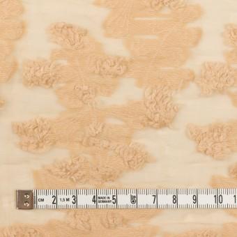 コットン&ナイロン×フラワー(カスタード)×オーガンジー・カットジャガード_全2色 サムネイル4