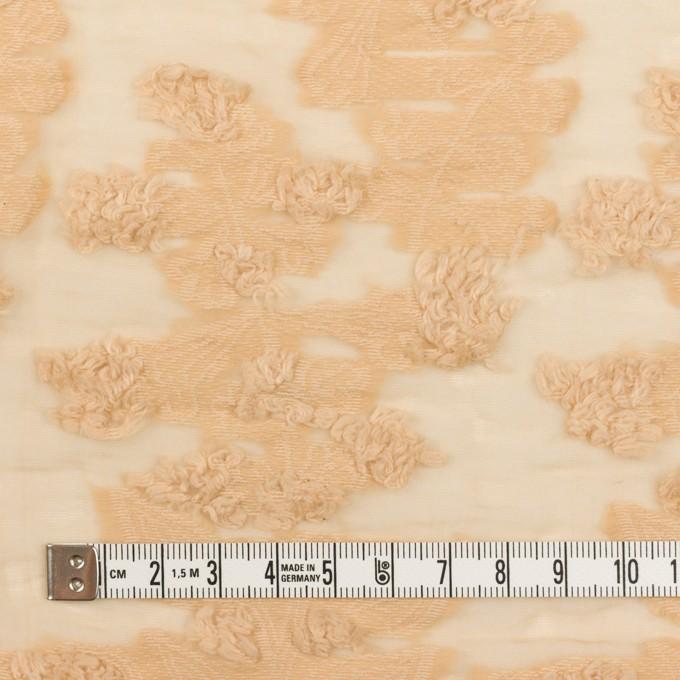 コットン&ナイロン×フラワー(カスタード)×オーガンジー・カットジャガード_全2色 イメージ4