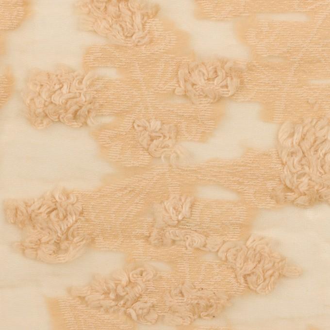 コットン&ナイロン×フラワー(カスタード)×オーガンジー・カットジャガード_全2色 イメージ1