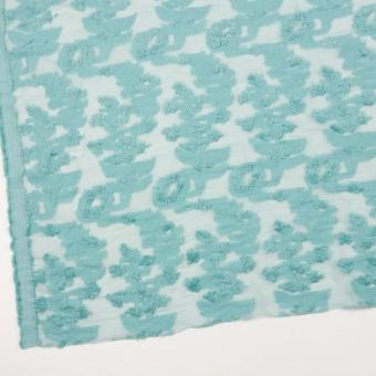 コットン&ナイロン×フラワー(アクアブルー)×オーガンジー・カットジャガード_全2色 サムネイル2
