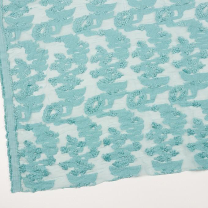 コットン&ナイロン×フラワー(アクアブルー)×オーガンジー・カットジャガード_全2色 イメージ2