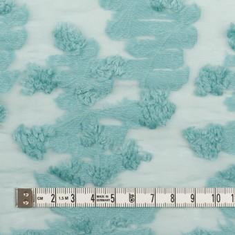 コットン&ナイロン×フラワー(アクアブルー)×オーガンジー・カットジャガード_全2色 サムネイル4