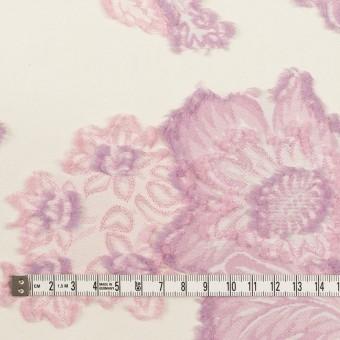 レーヨン&ポリエステル混×フラワー(クリーム&モーブ)×デシンカットジャガード_全2色 サムネイル4