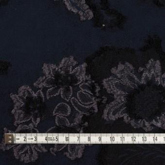 レーヨン&ポリエステル混×フラワー(ネイビー&グレー)×デシンカットジャガード_全2色 サムネイル4